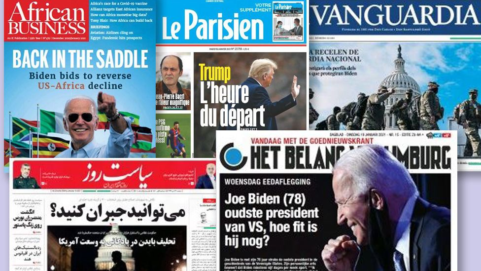 A selection of newspapers from around the world