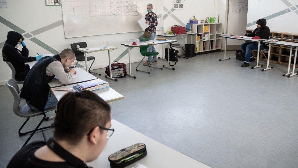 Hannah Höch Community School classroom, Berlin, 27 Apr 20