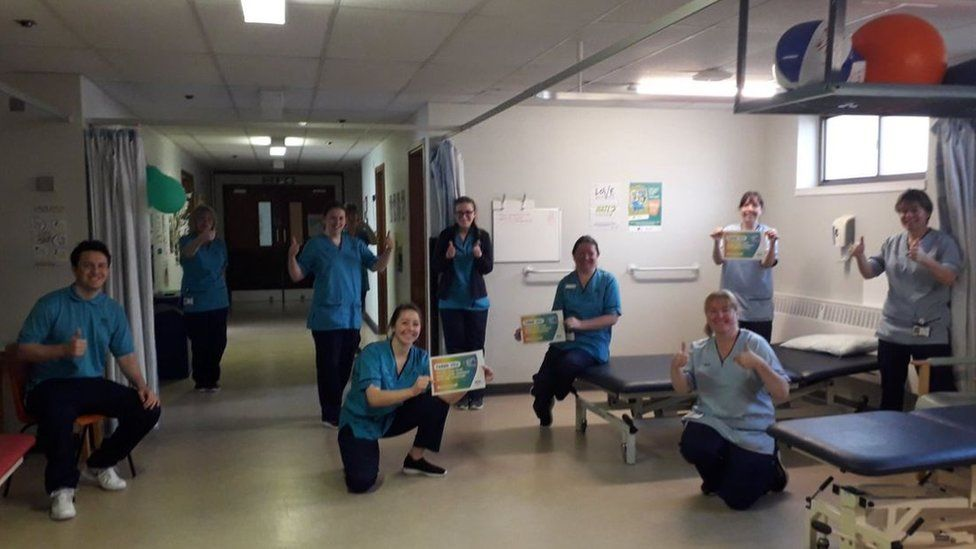 Staff at NHS Fife posted pictures with messages thanking the public for its support