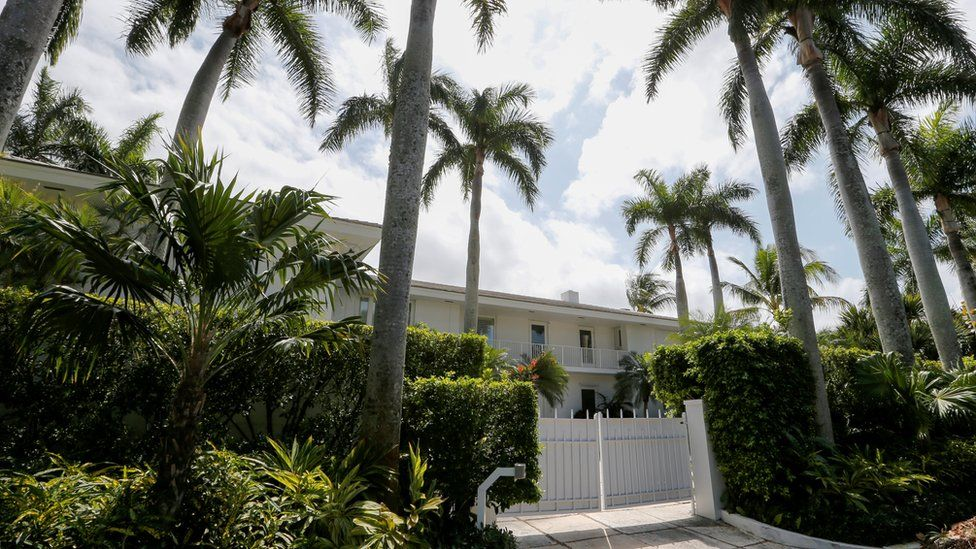 Epstein's residence in Palm Beach, Florida, on 14 March 2019