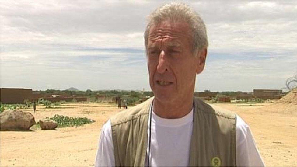 Roland van Hauwermeiren, believe to be in Chad in 2008.