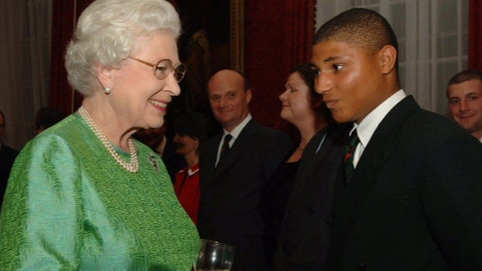 Kevin Williams meeting The Queen