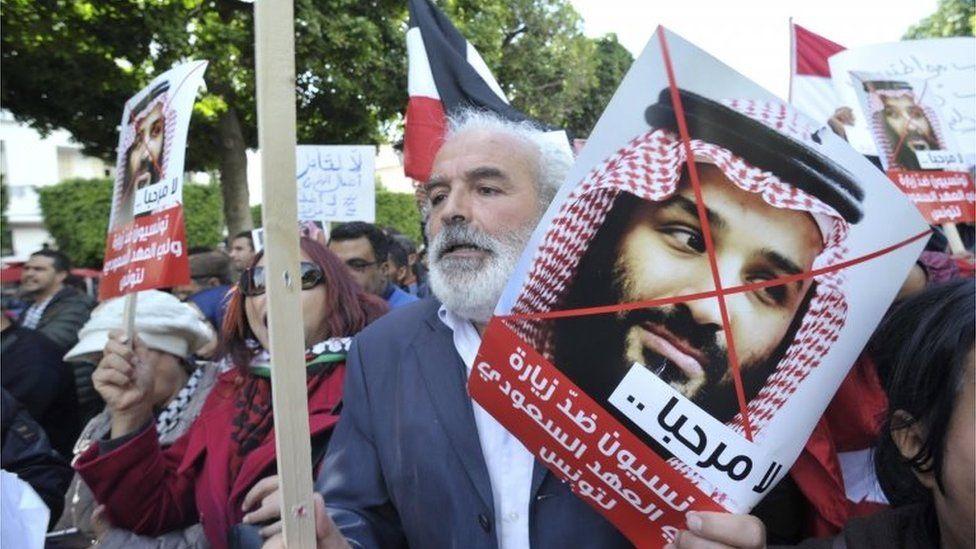 Protest against Mohammed Bin Salman in Tunis (27/11/18)