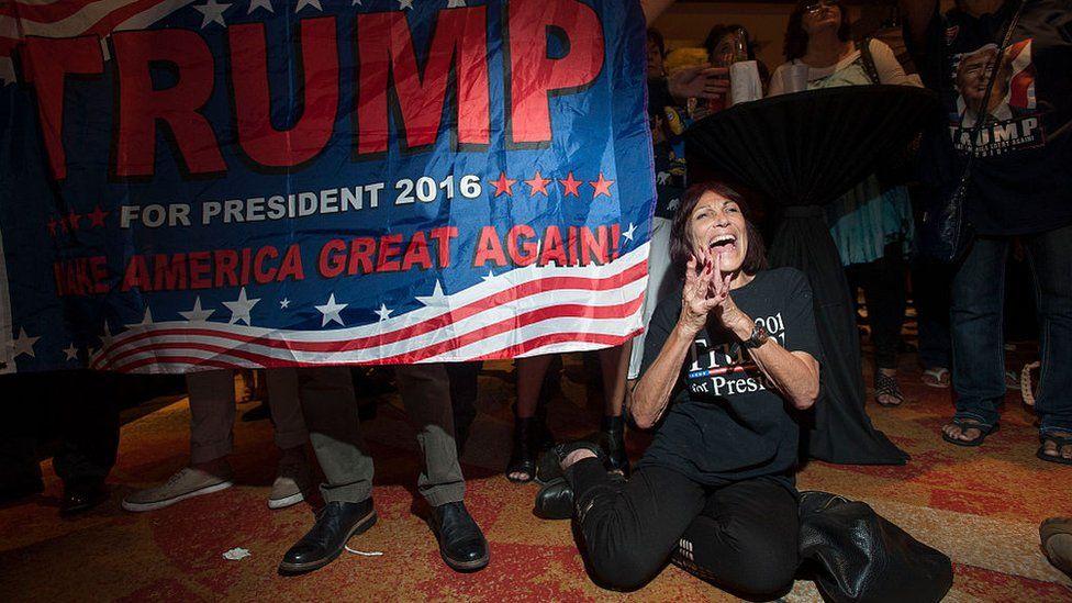 Trump fans celebrating