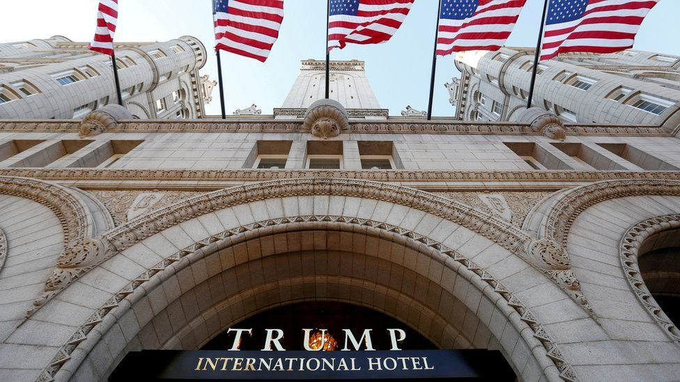The Trump International Hotel on its opening day in Washington DC, 12 September 2016