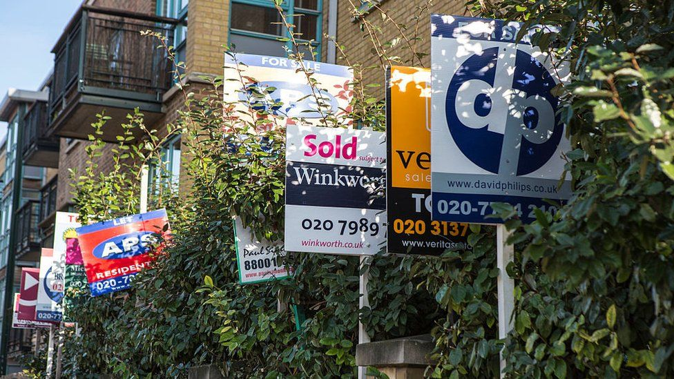 For Sale signs in Camden, London