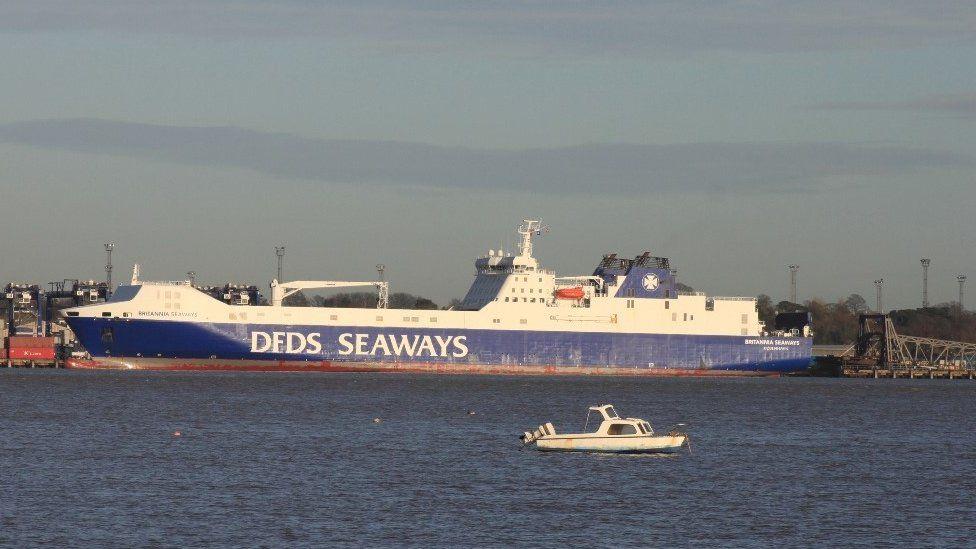 The MV Britannia Seaways in 2012