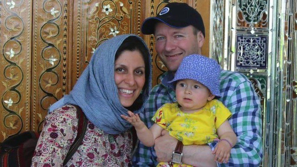 Nazanin Zaghari-Ratcliffe, her husband and daughter