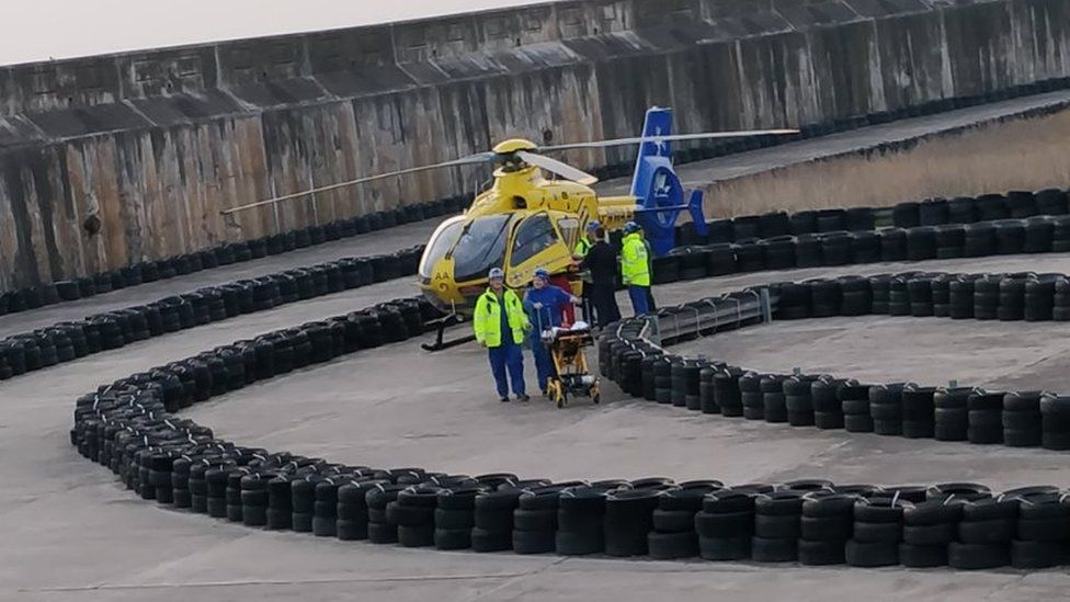 Rescue on Blackpool Prom