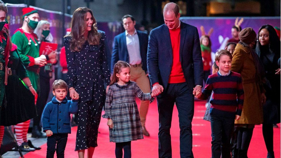 The Cambridges attend a pantomime in London on 11 December 2020