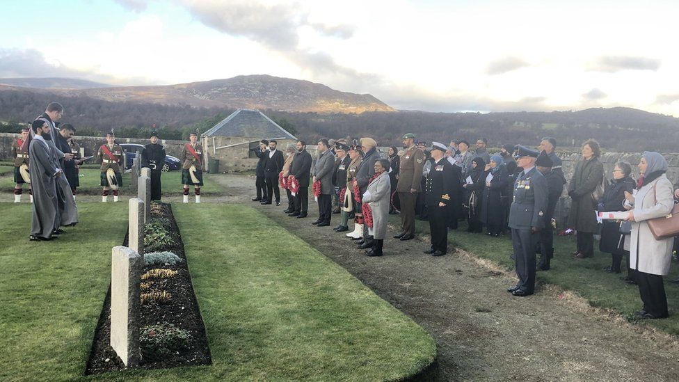 Multi-faith remembrance service at Kingussie Cemetery