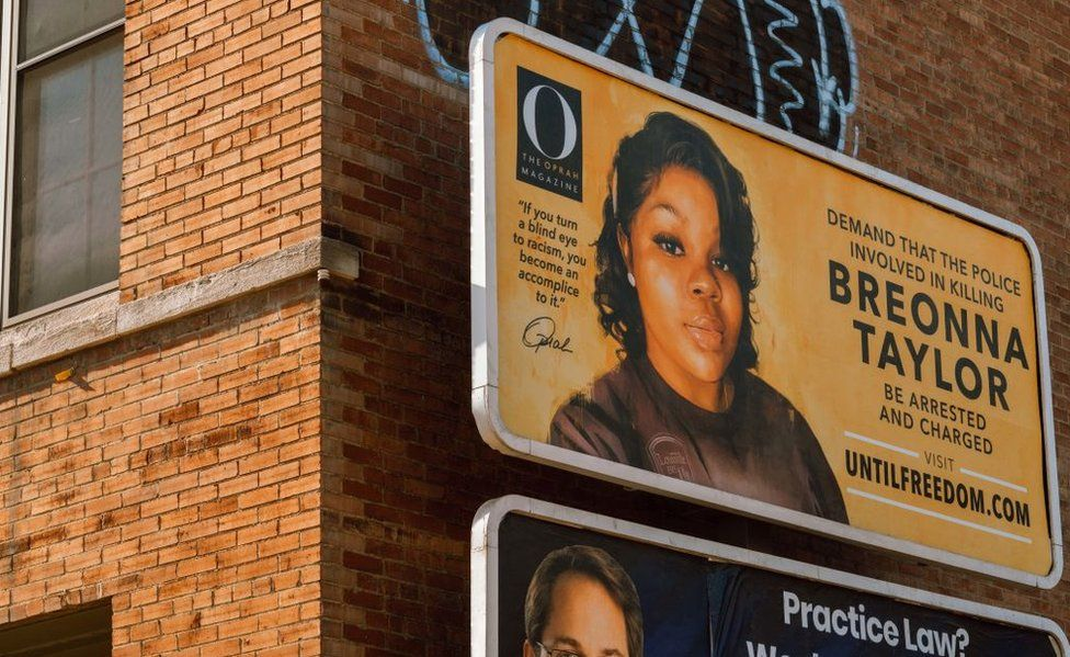 Billboards around Louisville call for the three officers to be arrested