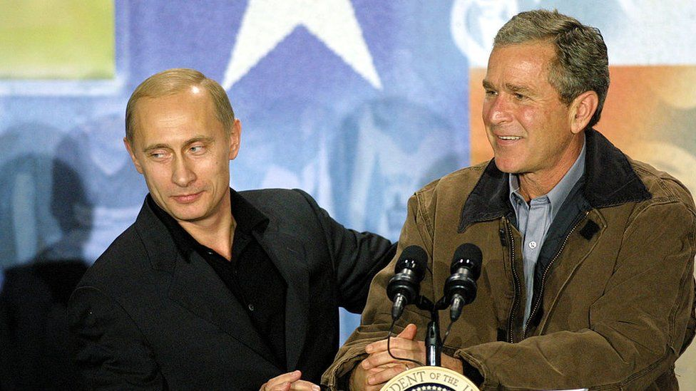 Putin and George W Bush in Texas, 2001
