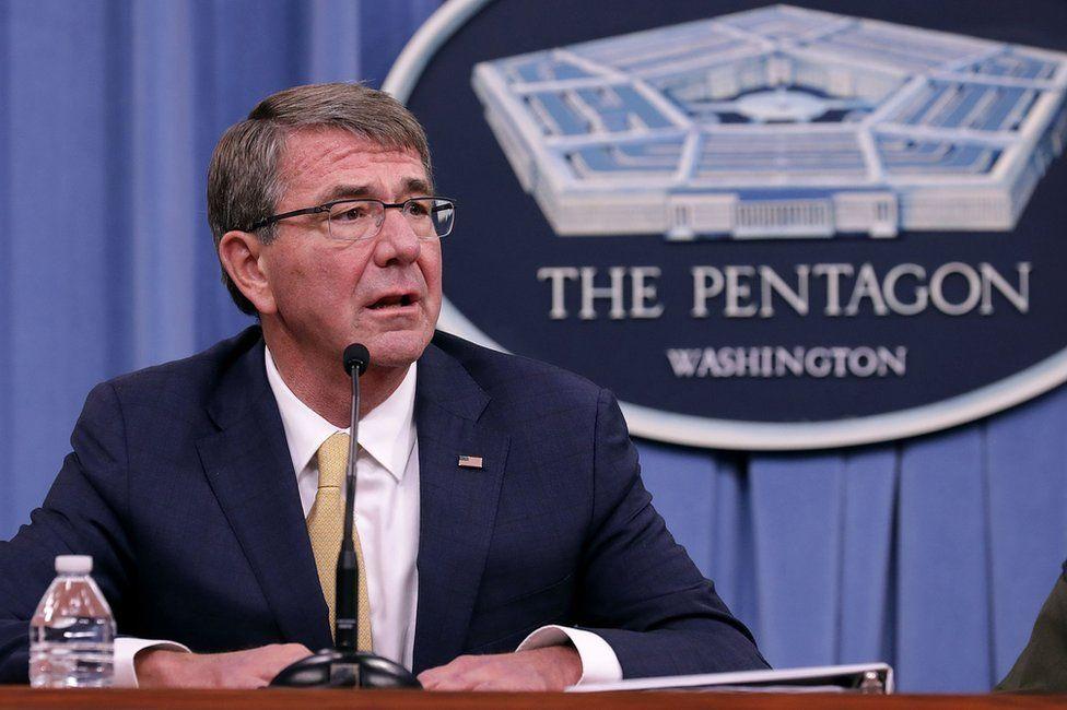 US Defense Secretary Ash Carter holds a news conference at the Pentagon 10 January 2017 in Arlington, VA