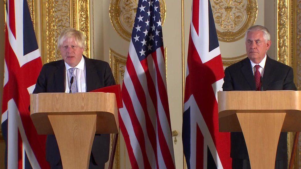 Boris Johnson and Rex Tillerson