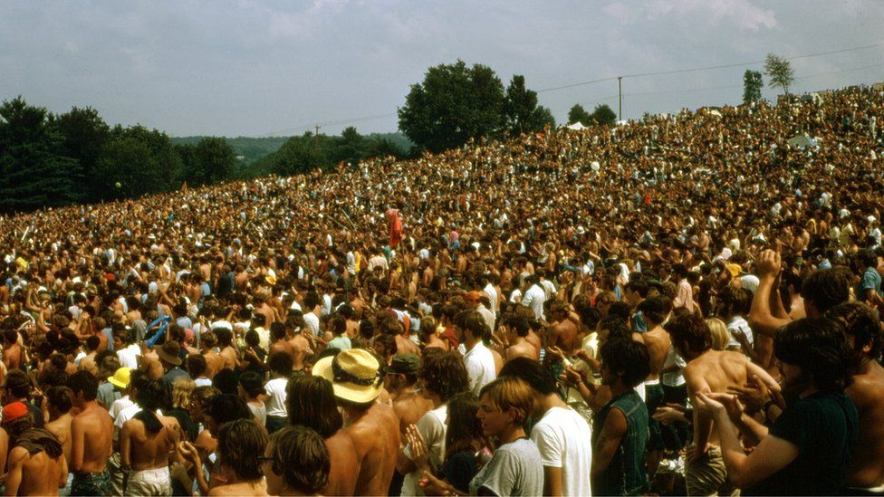 Crowd at Woodstock