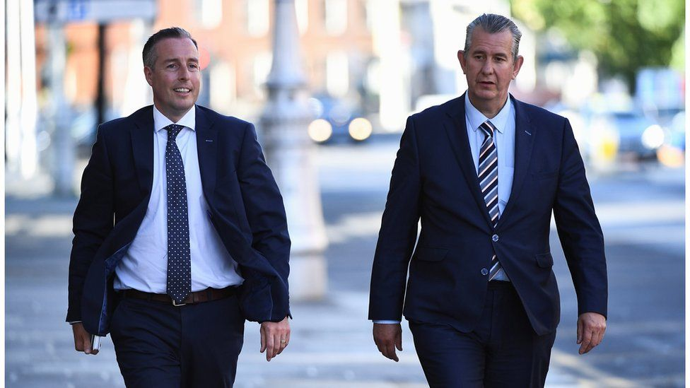 Paul Givan and Edwin Poots