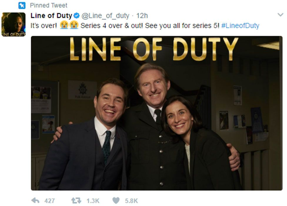 Line of Duty tweet