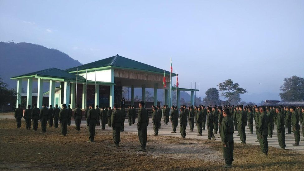 Shan State Army - North training