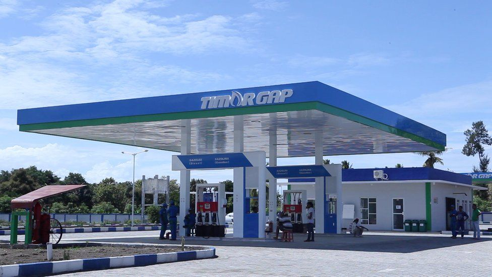 A gas station in East Timor
