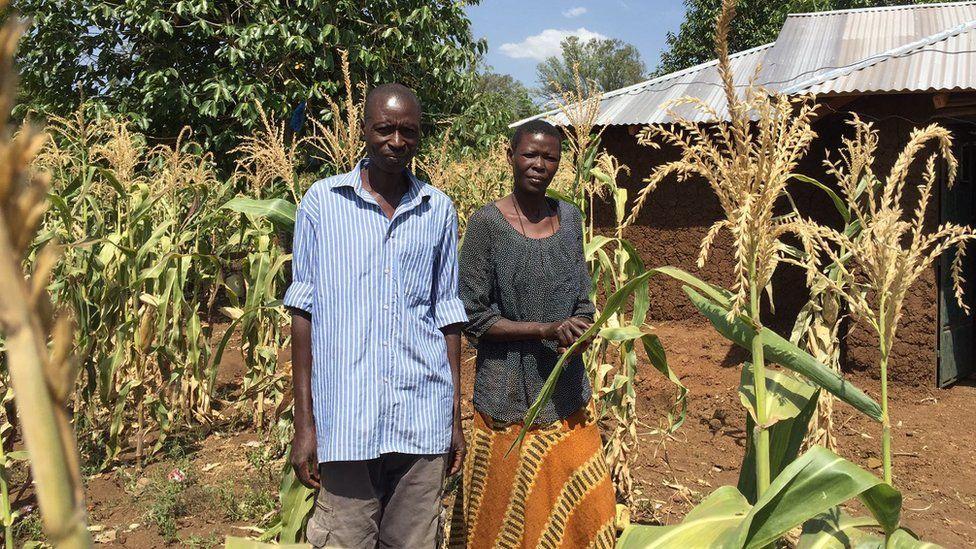 Joseph Ombimbo Nyakwaka and his wife Beatrice