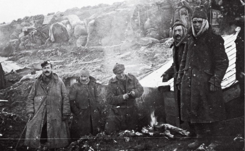 The photographs are among the earliest images of World War One