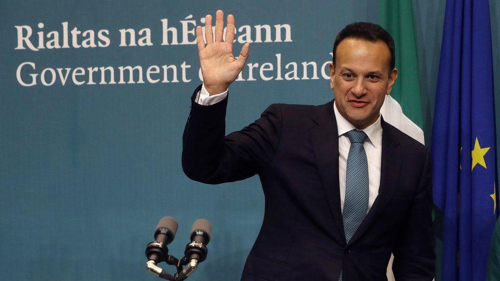 The Irish taoiseach (Prime Minister) Leo Varadkar at a news conference in Dublin, Ireland, 15 January 2020