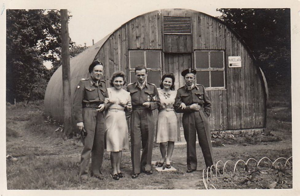 Polish soldiers and their families