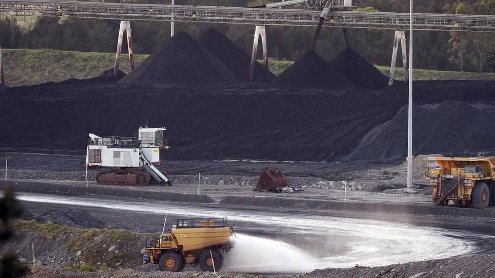Zdjęcie kopalni węgla kamiennego w regionie Hunter Valley w stanie Nowa Południowa Walia z 2015 roku