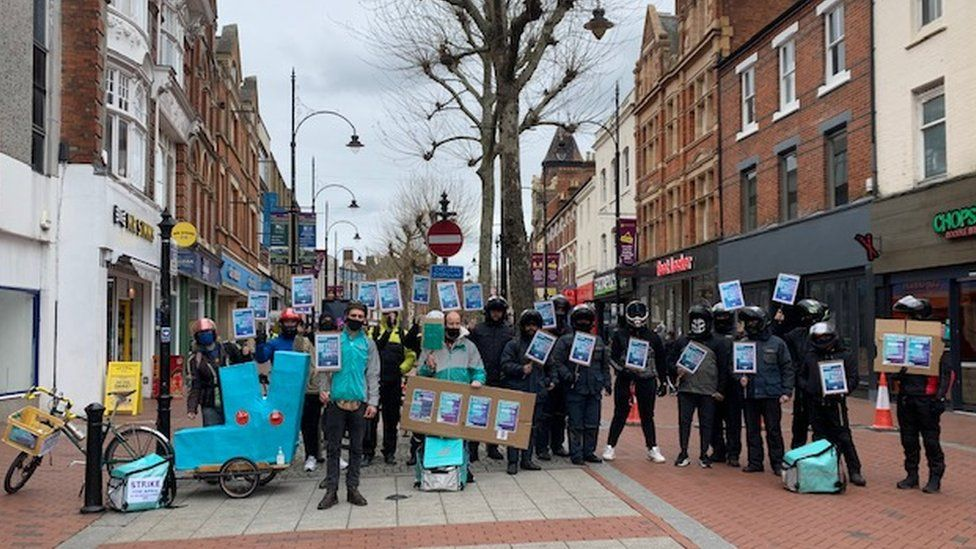 Deliveroo strike in Reading
