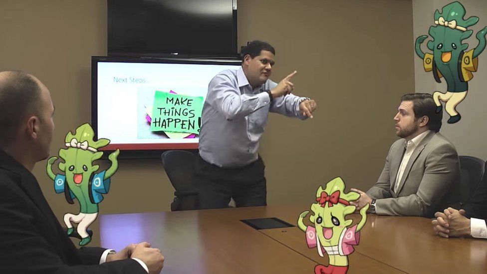 Reggie Fils-Aime became a Nintendo fan favourite thanks to moments like this - dancing to promote one of Nintendo's new titles