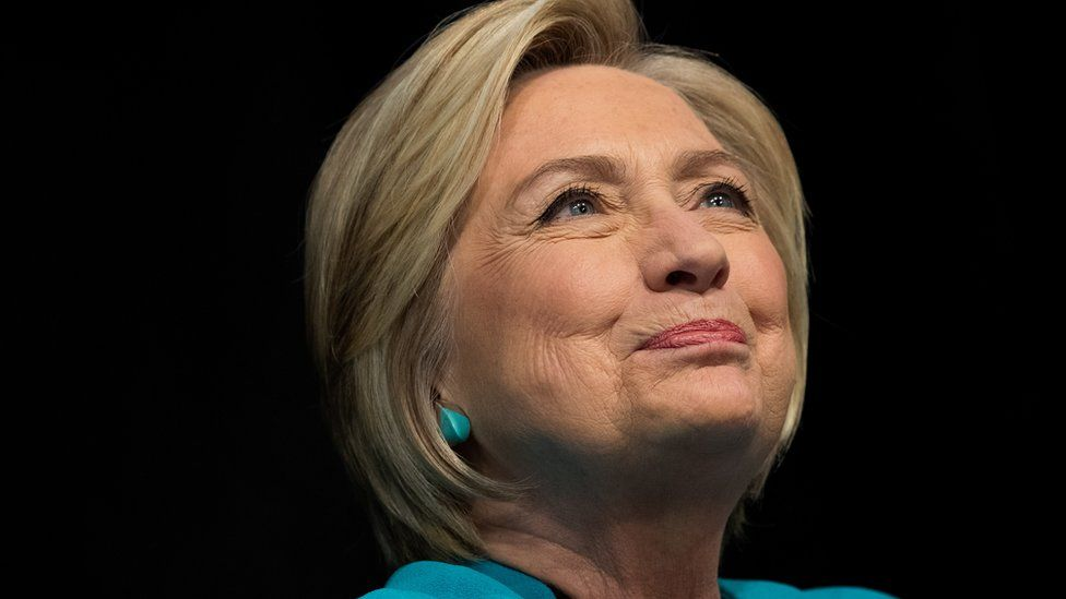 Former US Secretary of State and Democratic presidential candidate Hillary Clinton.