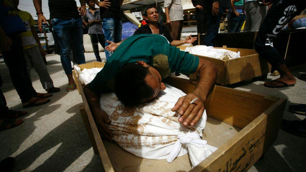 Funeral for bombing victim in the holy Iraqi city of Najaf on July 3, 2016