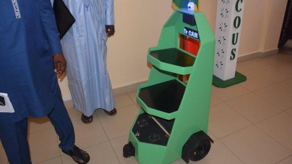 Doctor robot on the hospital ward