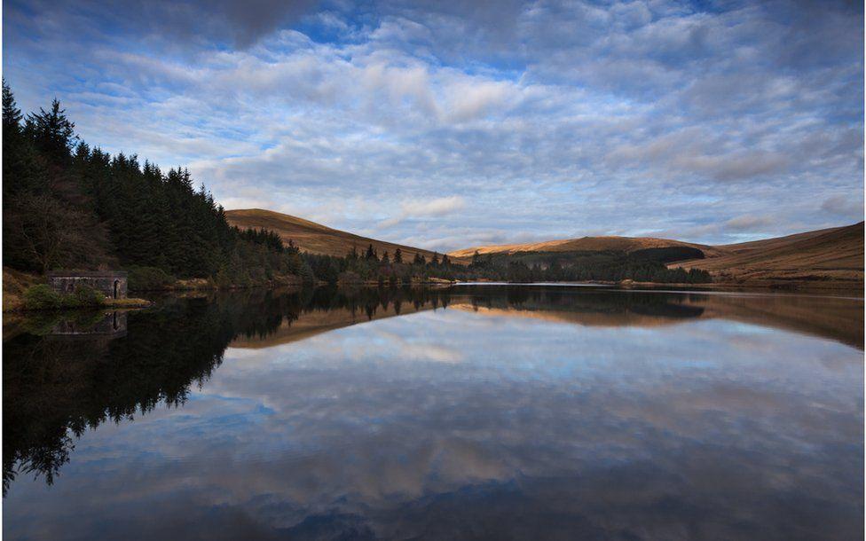 Distant Light - Beacons Reservoir, Brecon Beacons.
