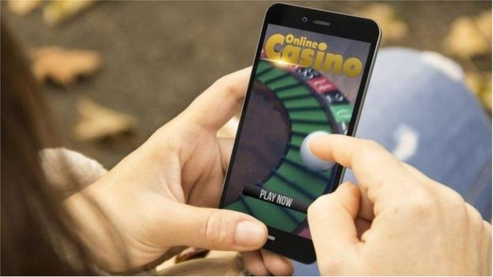Mobile phone with gambling site