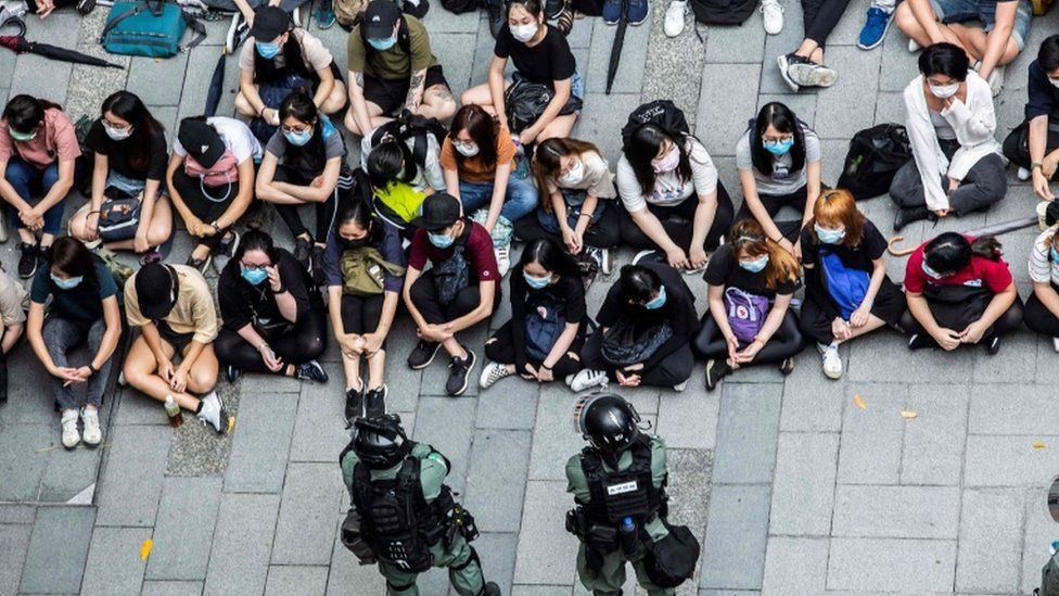 A number of protesters in Causeway Bay were detained