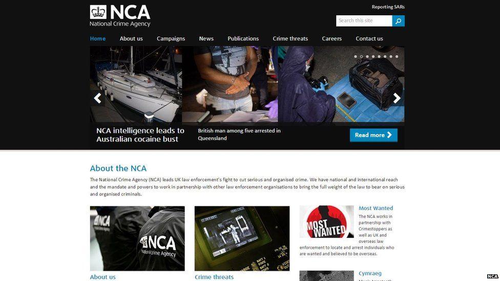 Screengrab of NCA website