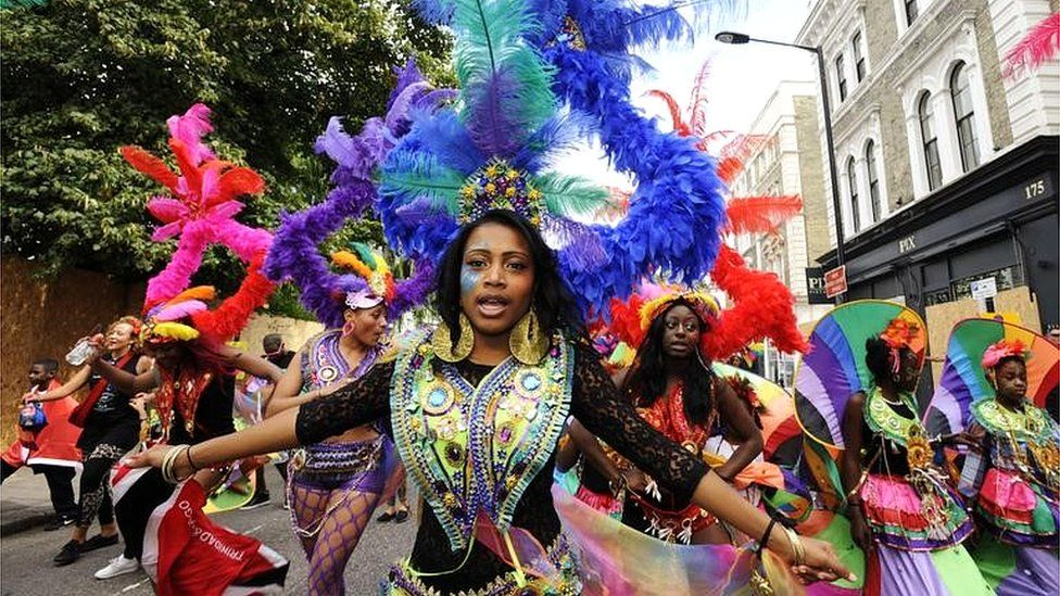 Performers in the Notting Hill Carnival