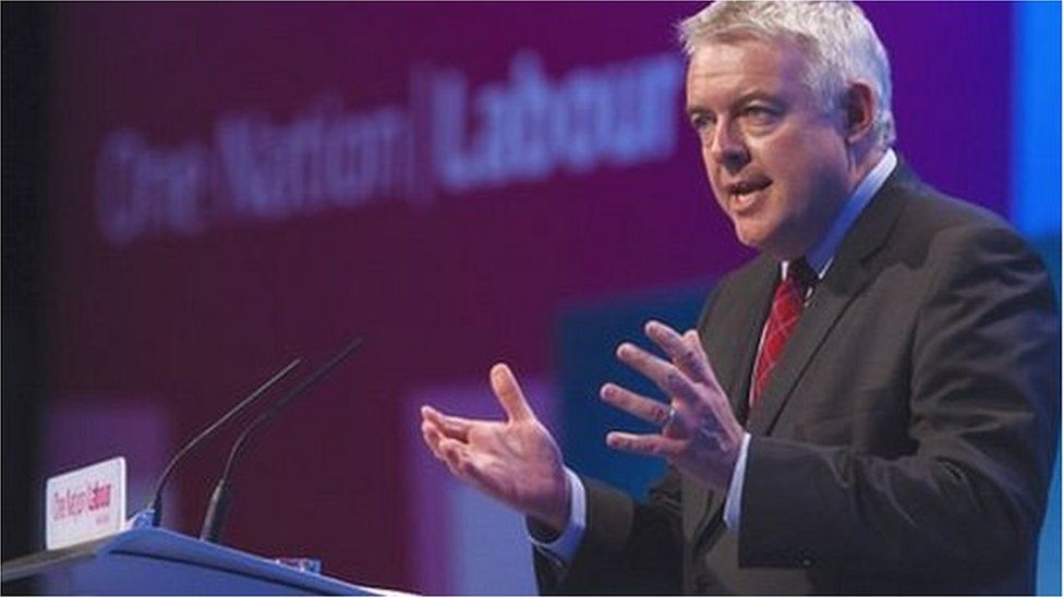 Carwyn Jones at the 2014 Welsh Labour conference