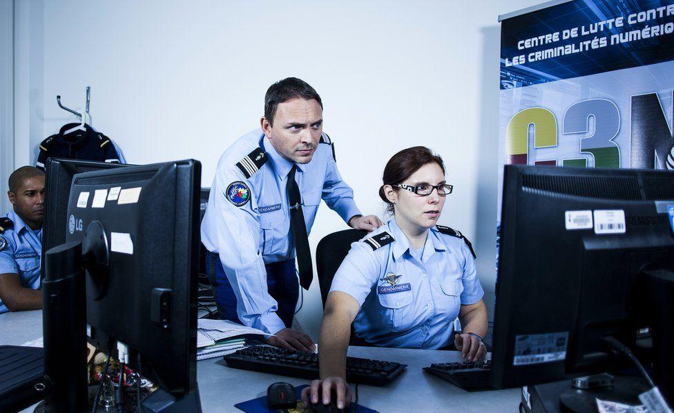 File pic of France's C3N crimefighting centre at Pontoise