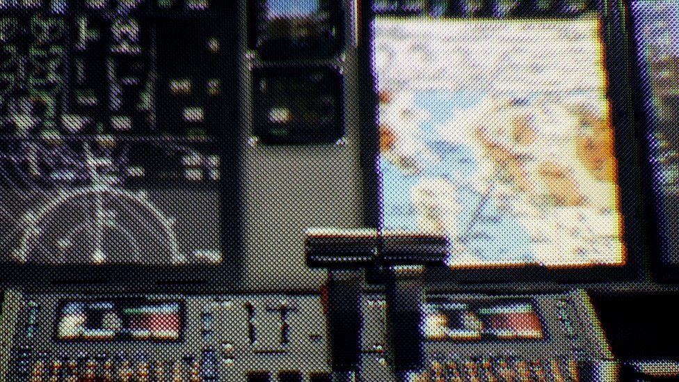 Plane cockpit at lower resolution