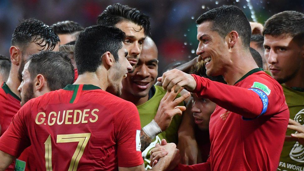 ronaldo celebrates second