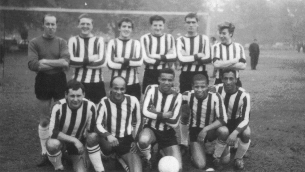 Wally Brown and teammates