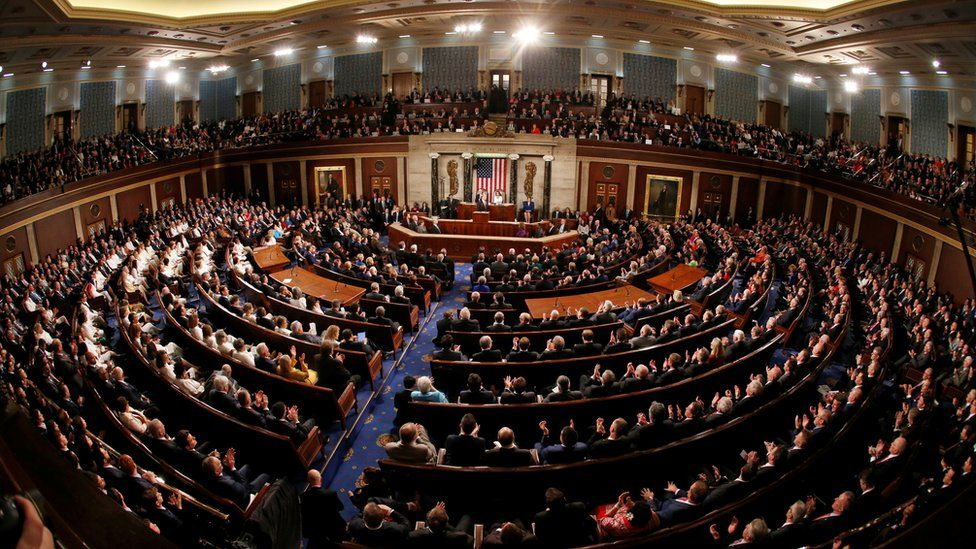 US President Donald Trump delivers his State of the Union address to a joint session of Congress
