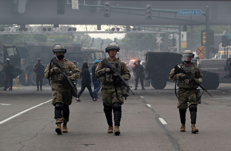 Three soldiers in Minneapolis