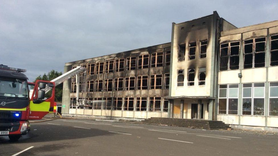 Foyle College destroyed by fire