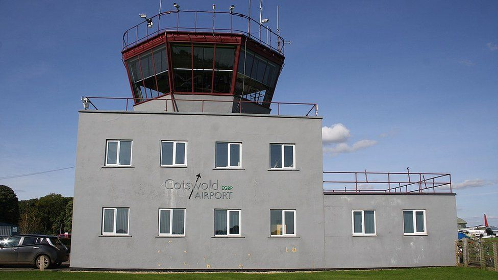 The control tower at Cotswold Airfield