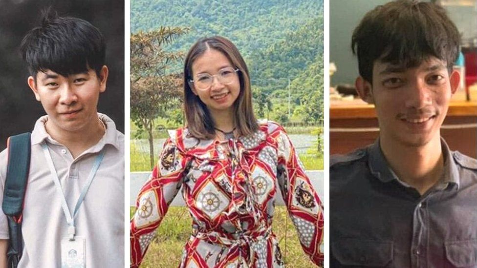 Three Cambodian activists
