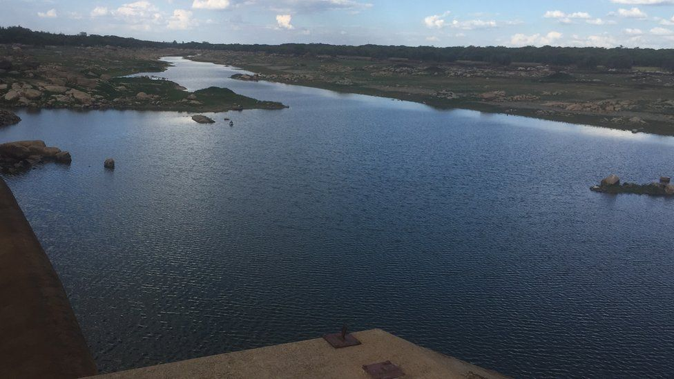 Water in a dam in Harare, Zimbabwe.